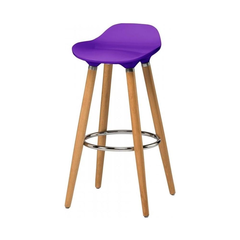 Buy Purple Plastic Bar Stool with Beech Wood Legs from  : fusion living purple plastic bar stool with beech wood legs p753 2948image from www.fusionliving.co.uk size 1000 x 1000 jpeg 35kB