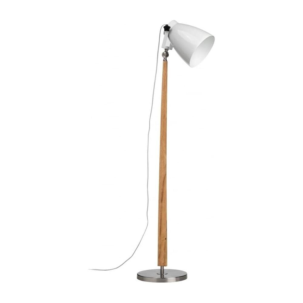 Buy Scandi Style Light Wood White Amp Nickel Floor Lamp At