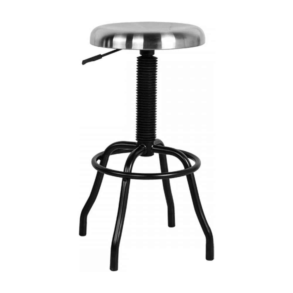 Amazing Silver And Black Industrial Style Bar Stool Machost Co Dining Chair Design Ideas Machostcouk