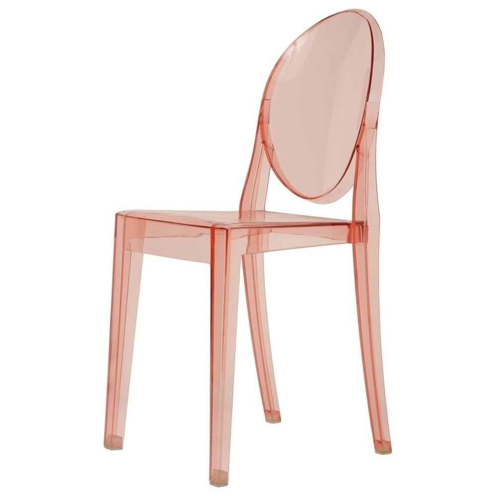Etonnant Transparent Pink Ghost Style Plastic Victoria Dining Chair
