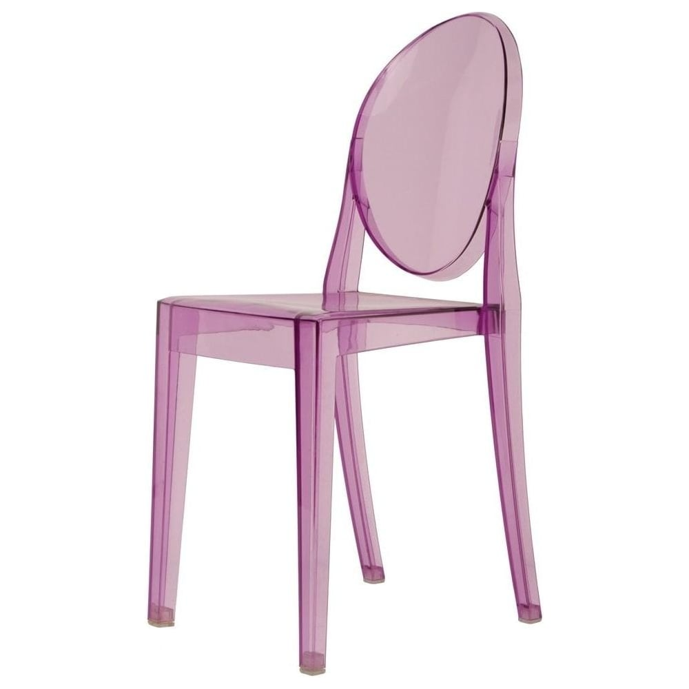 Exceptionnel Transparent Purple Ghost Style Plastic Victoria Dining Chair