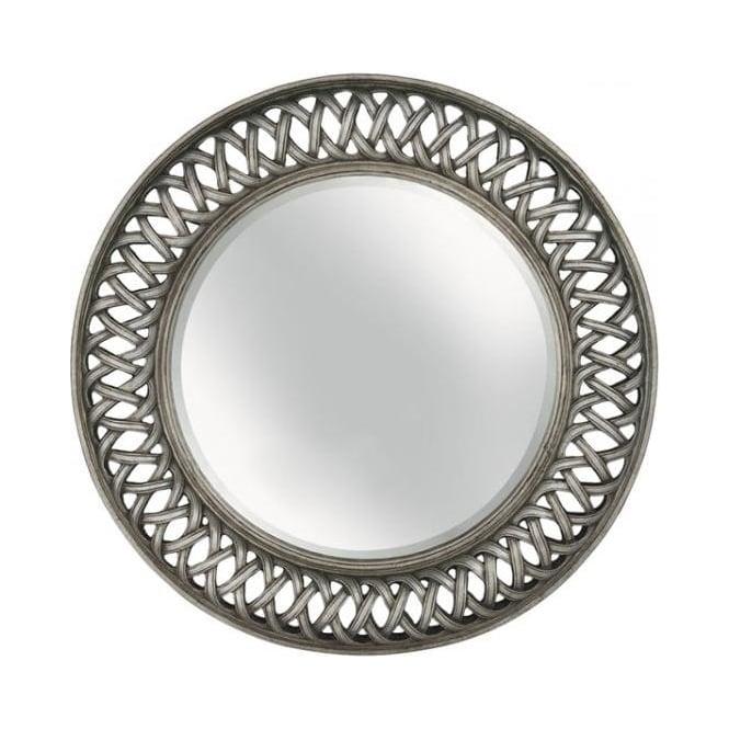 Buy Fusion Living Vintage Style Silver Circular Mirror