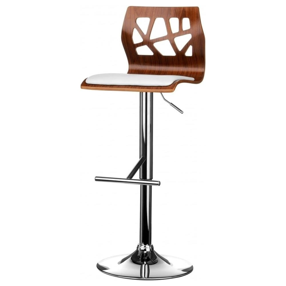faux leather bar stools. Walnut And White Faux Leather Contemporary Cut Out Bar Stool Stools S