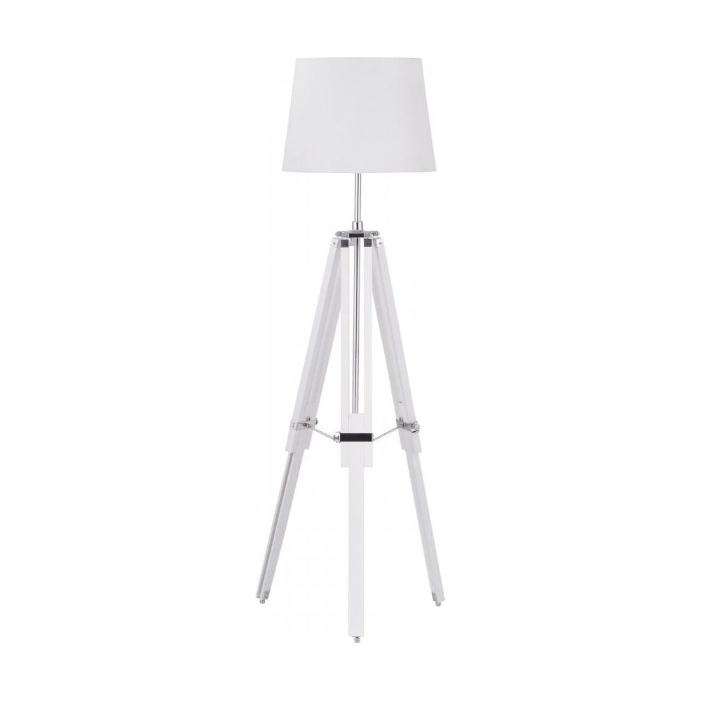Buy white wood and chrome tripod floor lamp from fusion living white wood and chrome tripod floor standing lamp mozeypictures Choice Image