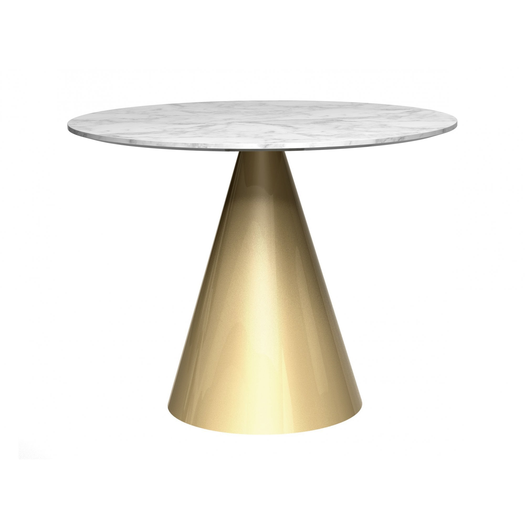 Small Circular Dining Table Clear Glass Top /& Brass Base