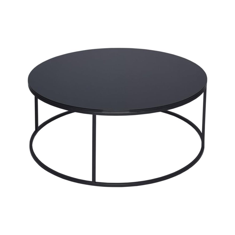- Buy Black Glass And Metal Circular Coffee Table From Fusion Living