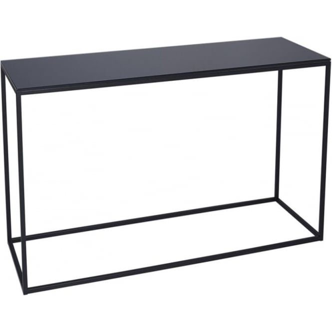 Buy Black Glass And Black Metal Square Side Table From: Buy Black Glass And Black Metal Console Table From Fusion