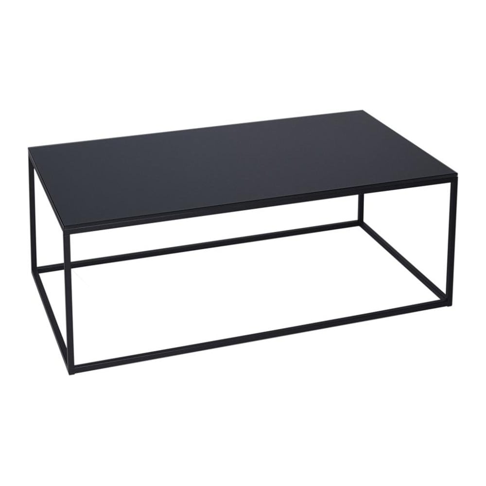 Buy Black Glass And Metal Rectangular Coffee Table From Fusion Living