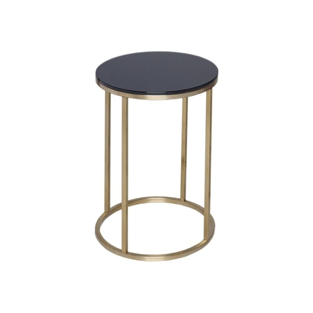 Buy Black Glass And Metal Square Coffee Table From Fusion: Buy Black Glass And Gold Metal Circular Side Table From