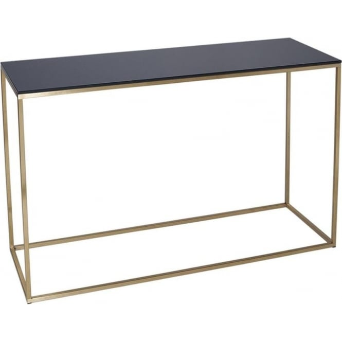 Buy Black Glass And Metal Square Coffee Table From Fusion: Buy Black Glass And Gold Metal Console Table From Fusion