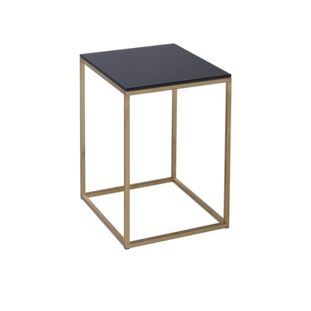 Buy White Glass And Metal Square Coffee Table From Fusion: Buy Black Glass And Gold Metal Square Side Table From