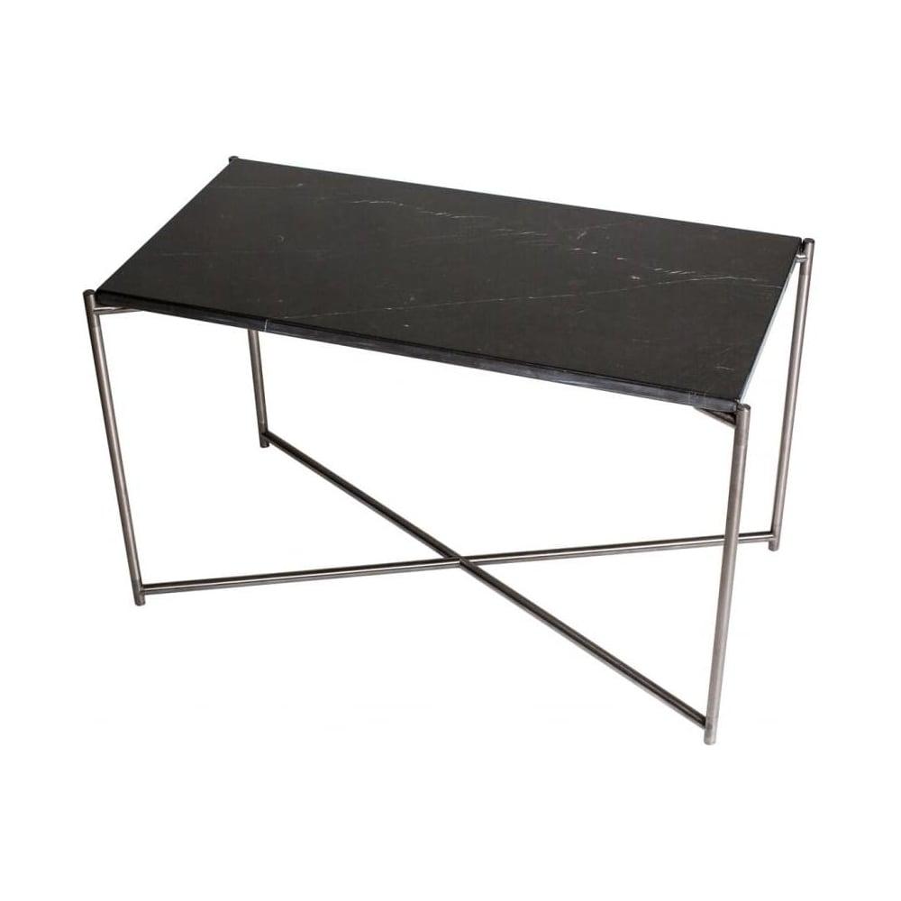 Buy Black Marble Square Coffee Table Gun Metal Base At: Buy Black Marble Rectangular Table & Gunmetal Base At