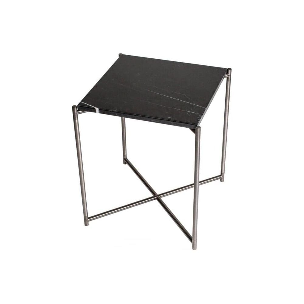 Buy Black Marble Square Coffee Table Gun Metal Base At