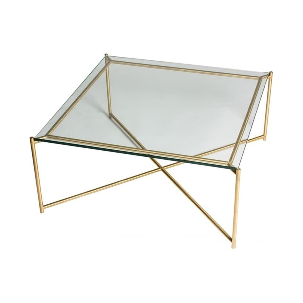 Buy Black Glass And Metal Square Coffee Table From Fusion: Buy Clear Glass Square Coffee Table With Brass Base At