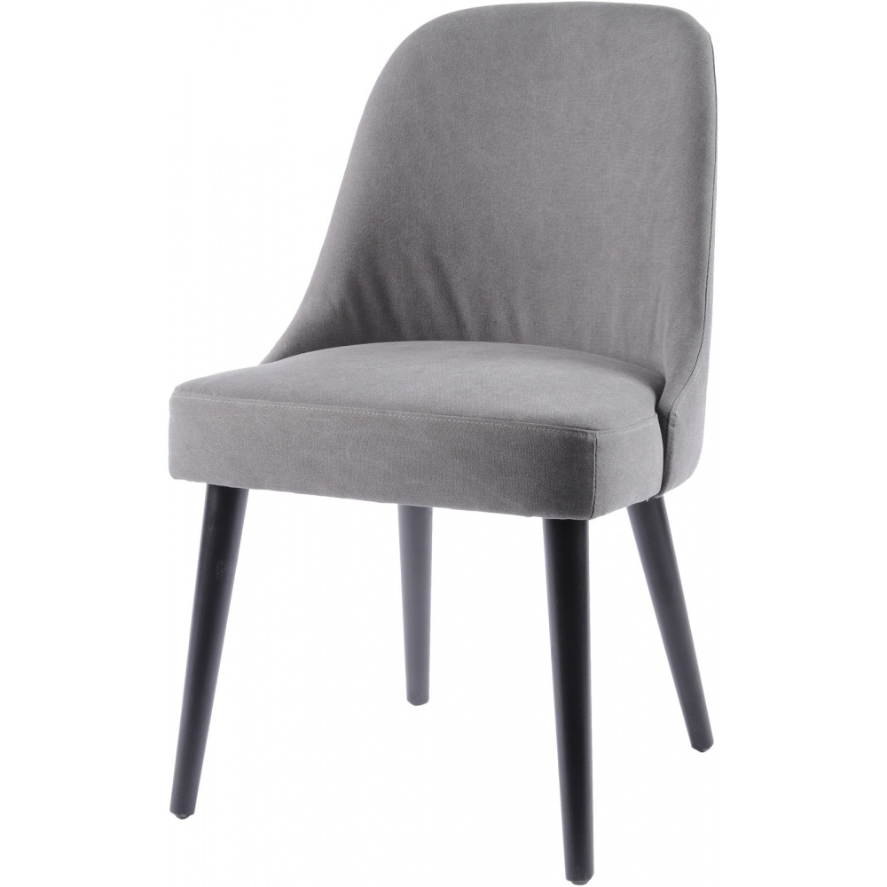 Cream Upholstered Dining Chair With Gun Metal Legs