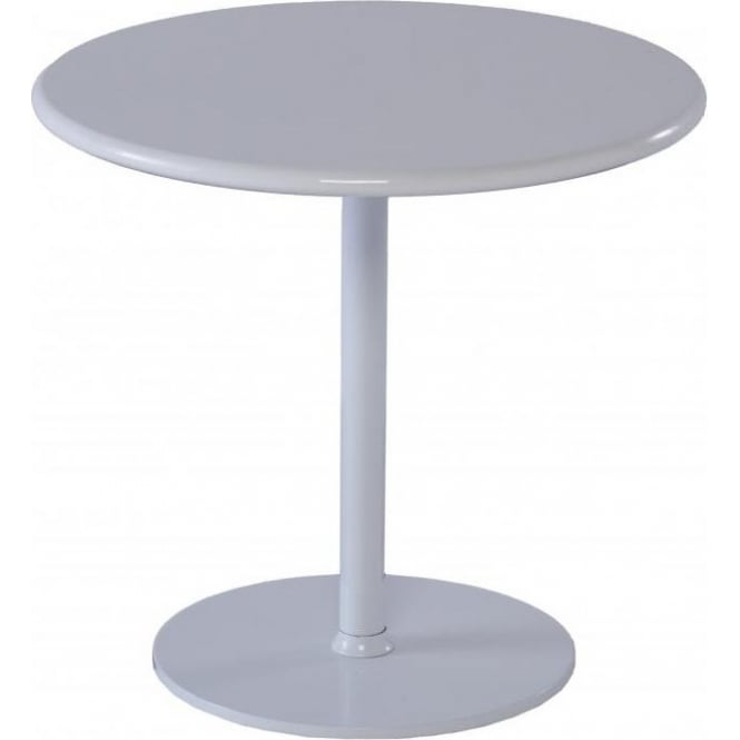 Buy Gillmore Space Circular Gloss White Side Table From