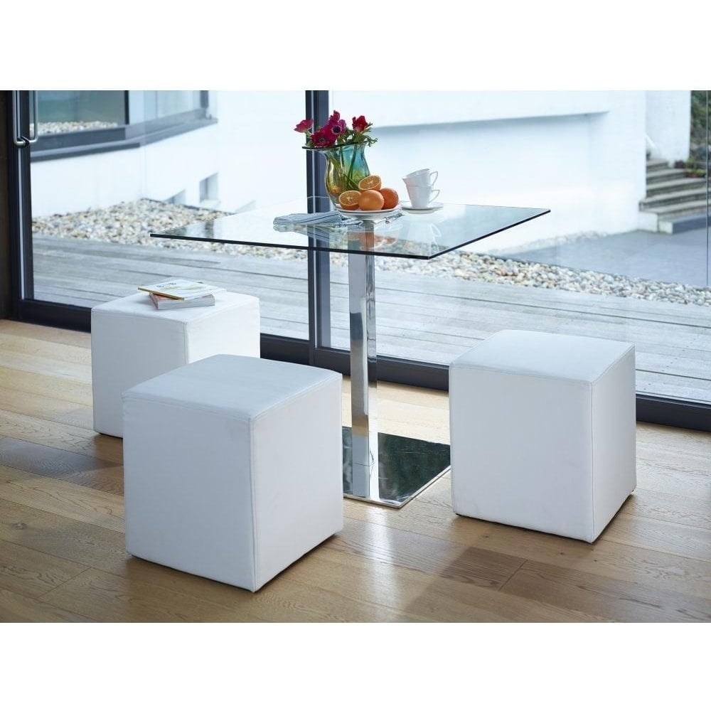 Buy Gillmore Space Square Glass Bistro Dining Table from Fusion Living