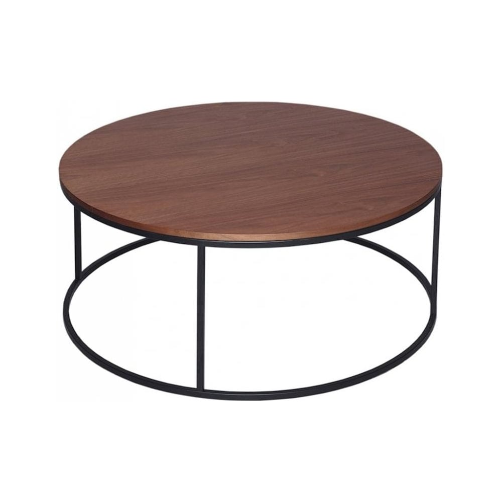 Buy Walnut And Black Metal Square Coffee Table From Fusion: Buy Walnut And Black Metal Circular Coffee Table From