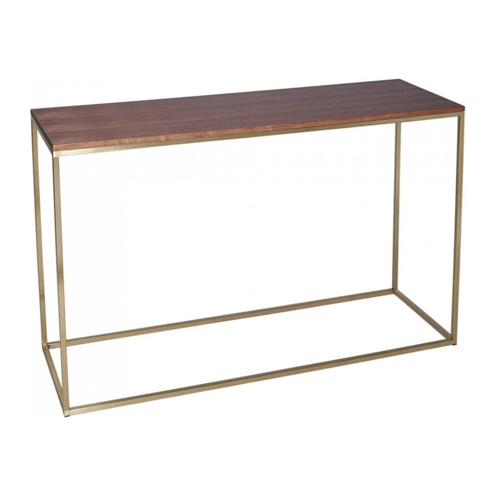 Buy this contemporary gilmore space walnut and gold for Small console tables contemporary