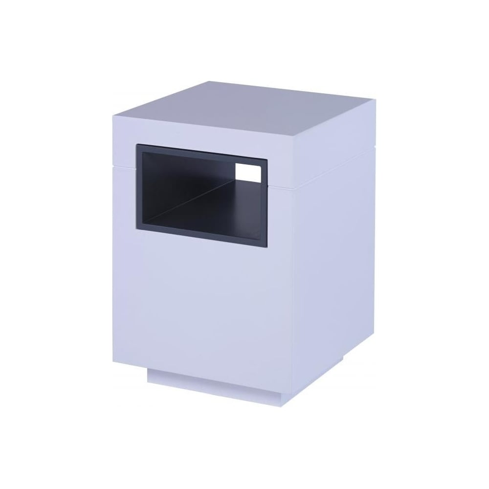White And Graphite Grey Accent Contemporary Side Table