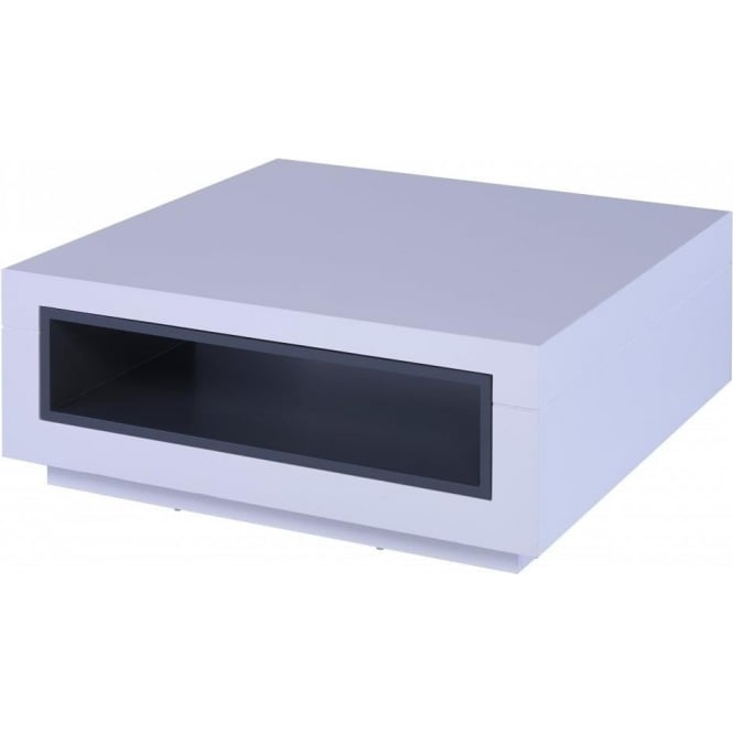 Buy White Glass And Metal Square Coffee Table From Fusion: Buy Gillmore Space White And Grey Square Coffee Table By