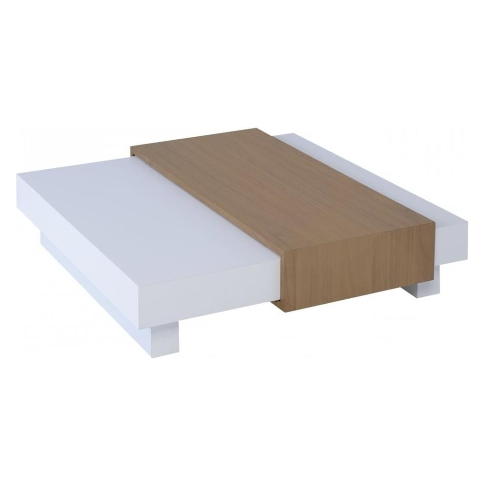 Buy Gillmore Space White And Oak Coffee Table From Fusion Living