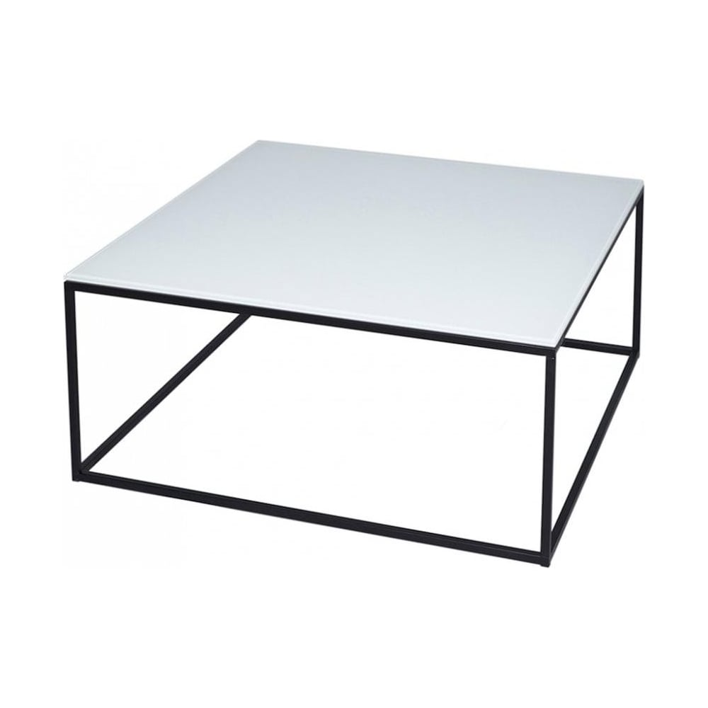 Buy White Glass And Metal Square Coffee Table From Fusion