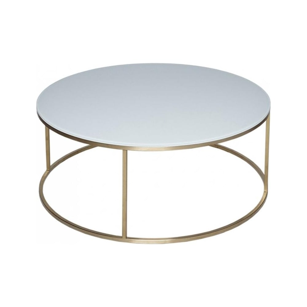 Buy Black Glass And Metal Square Coffee Table From Fusion: Buy White Glass & Gold Metal Circular Coffee Table From