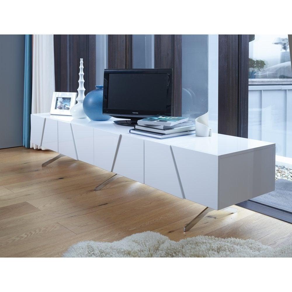 buy online 43d4a 9f075 White Lacquer Large Media Unit