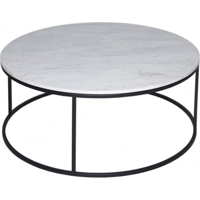 Buy Black Glass And Metal Square Coffee Table From Fusion: Buy White Marble And Black Metal Coffee Table From Fusion