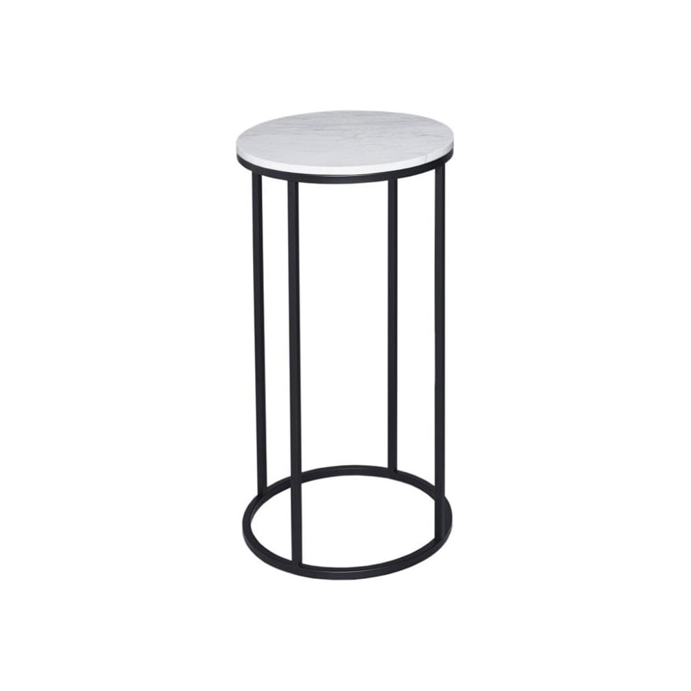 Buy White Marble And Black Metal Coffee Table From Fusion: Buy White Marble And Black Metal Lamp Table From Fusion Living
