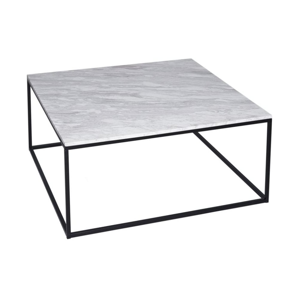 Buy White Marble And Black Metal Coffee Table From Fusion Living