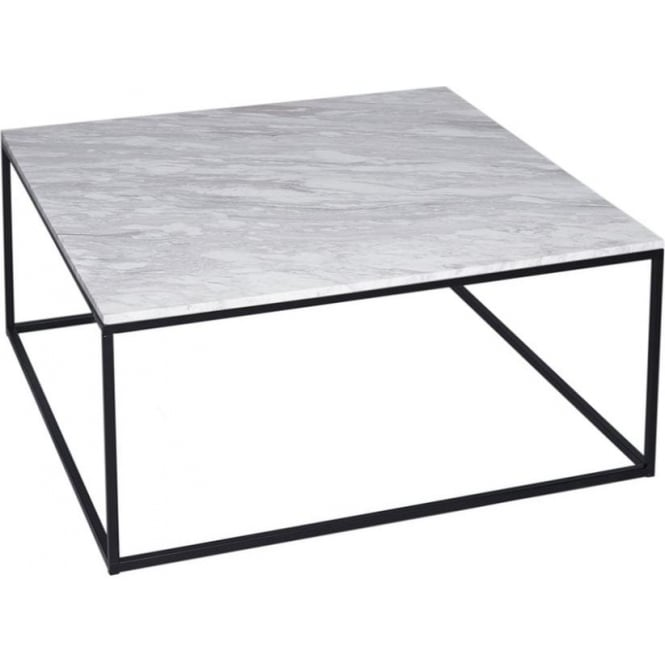 Buy Walnut And Black Metal Square Coffee Table From Fusion: Buy White Marble And Black Metal Coffee Table From Fusion