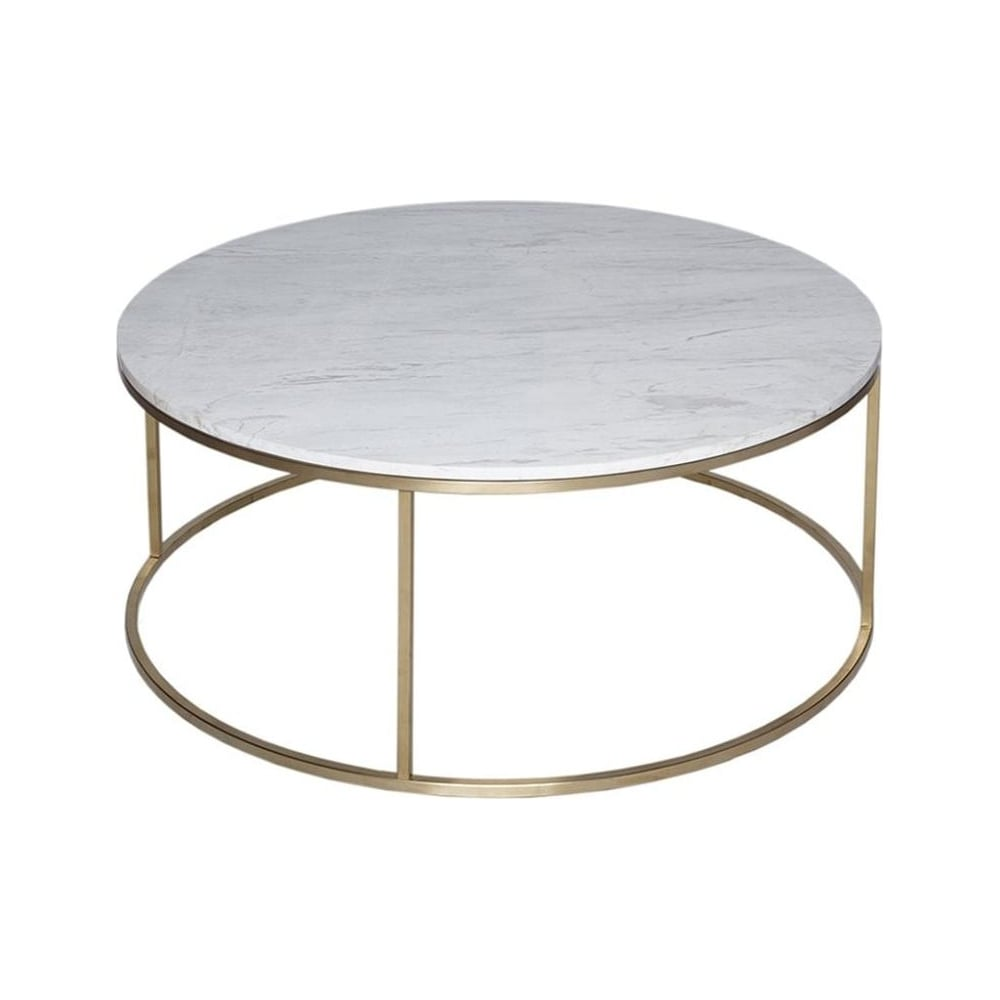 Buy White Marble And Gold Metal Coffee Table From Fusion