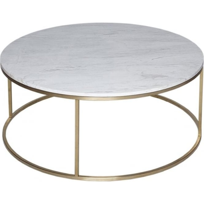 Modern Marble Coffee Table Uk: Buy White Marble And Gold Metal Coffee Table From Fusion