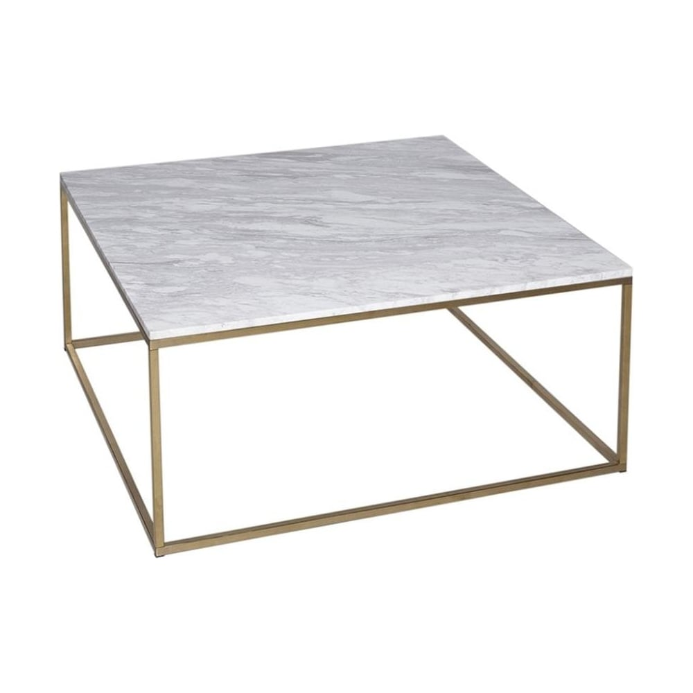 Buy White Marble And Silver Metal Coffee Table From Fusion Living
