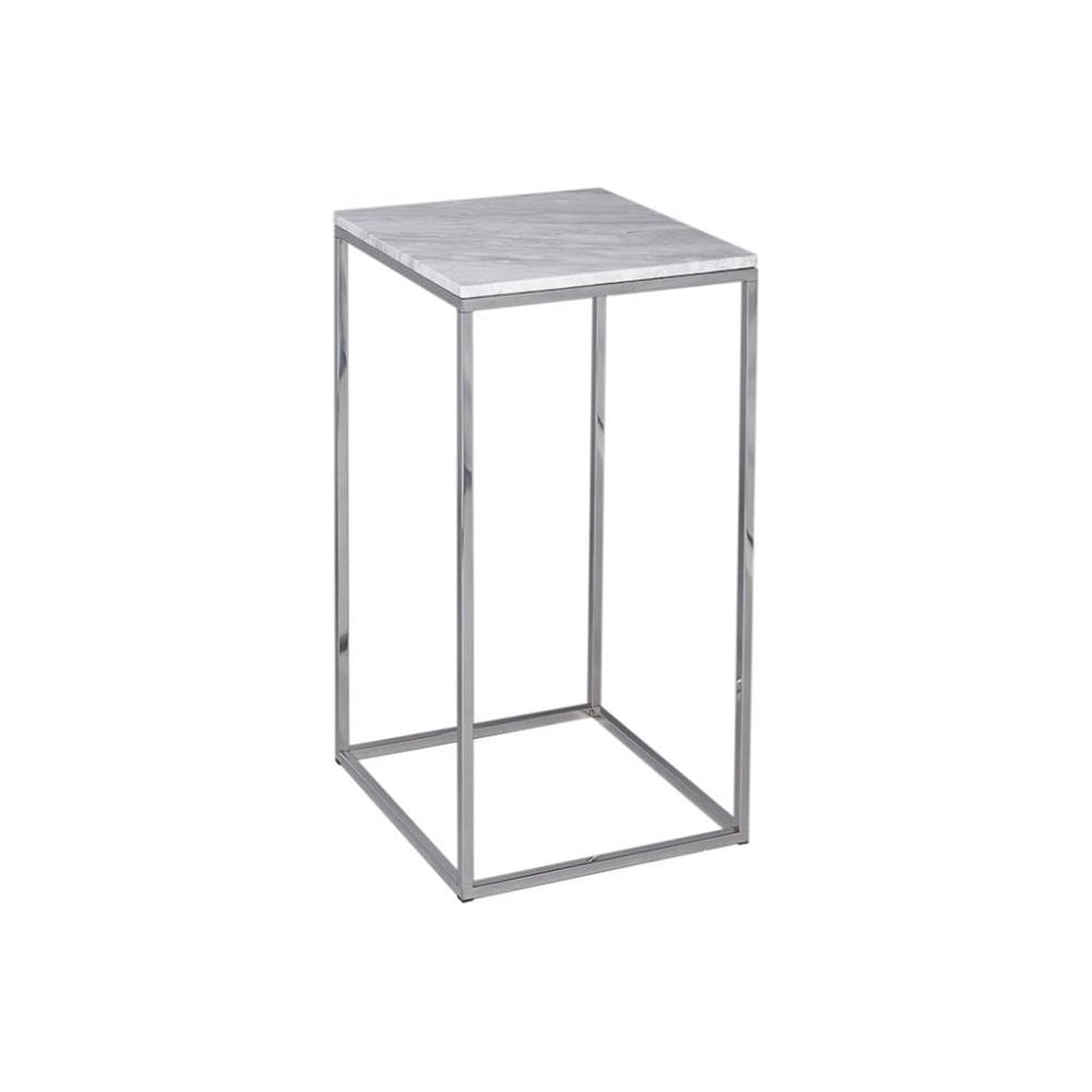 Buy white marble and silver metal square lamp table from fusion living white marble and silver metal contemporary square lamp table mozeypictures Images