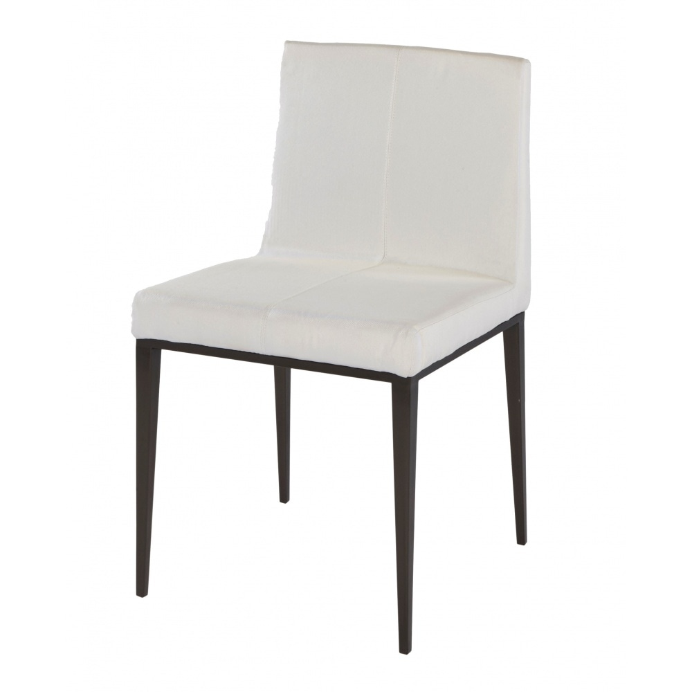 Wooden And Upholstered Dining Chair In Dark Charcoal