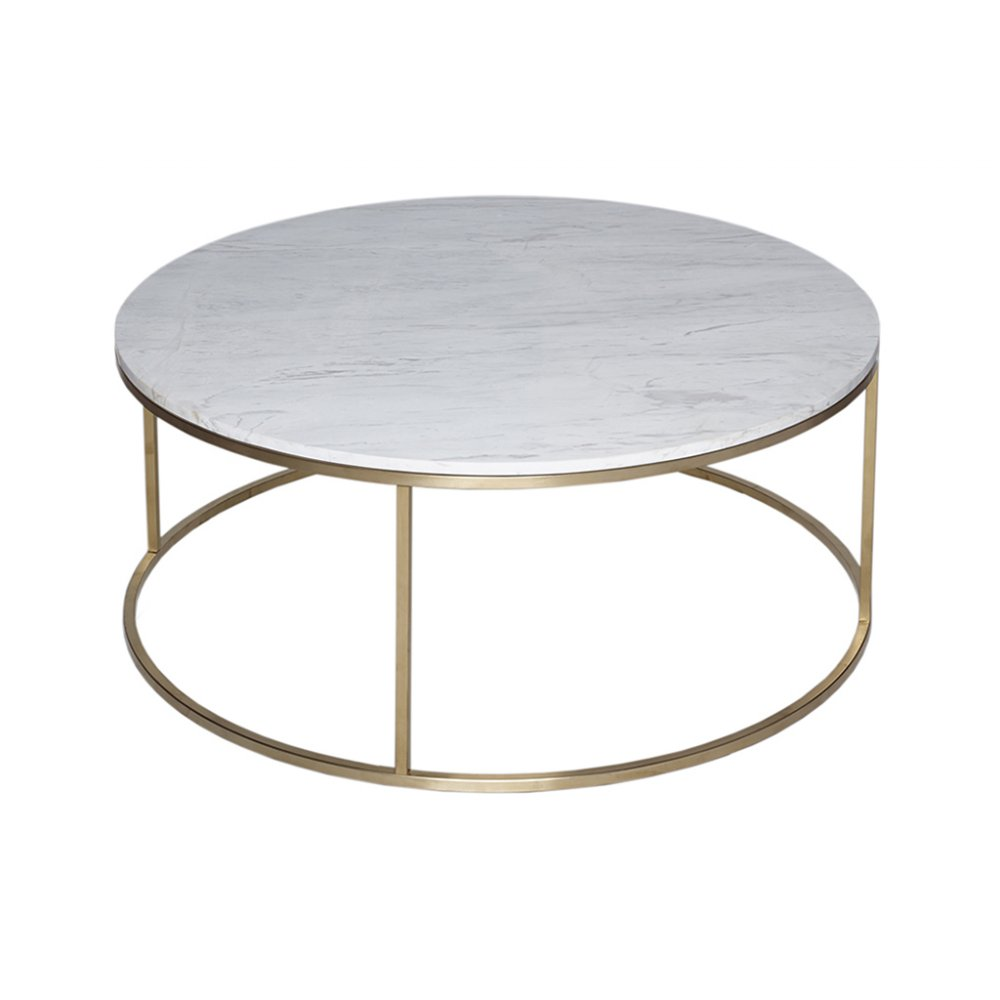 Buy White Marble And Gold Metal Coffee Table From Fusion Living