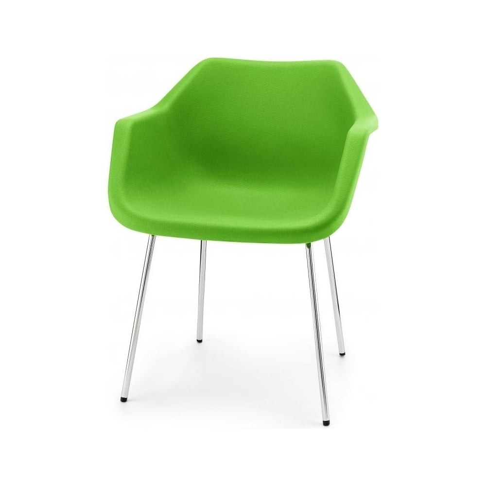 Bright Green Robin Day Plastic Armchair. Bright Green Robin Day Armchair from Fusion Living   Plastic Armchairs