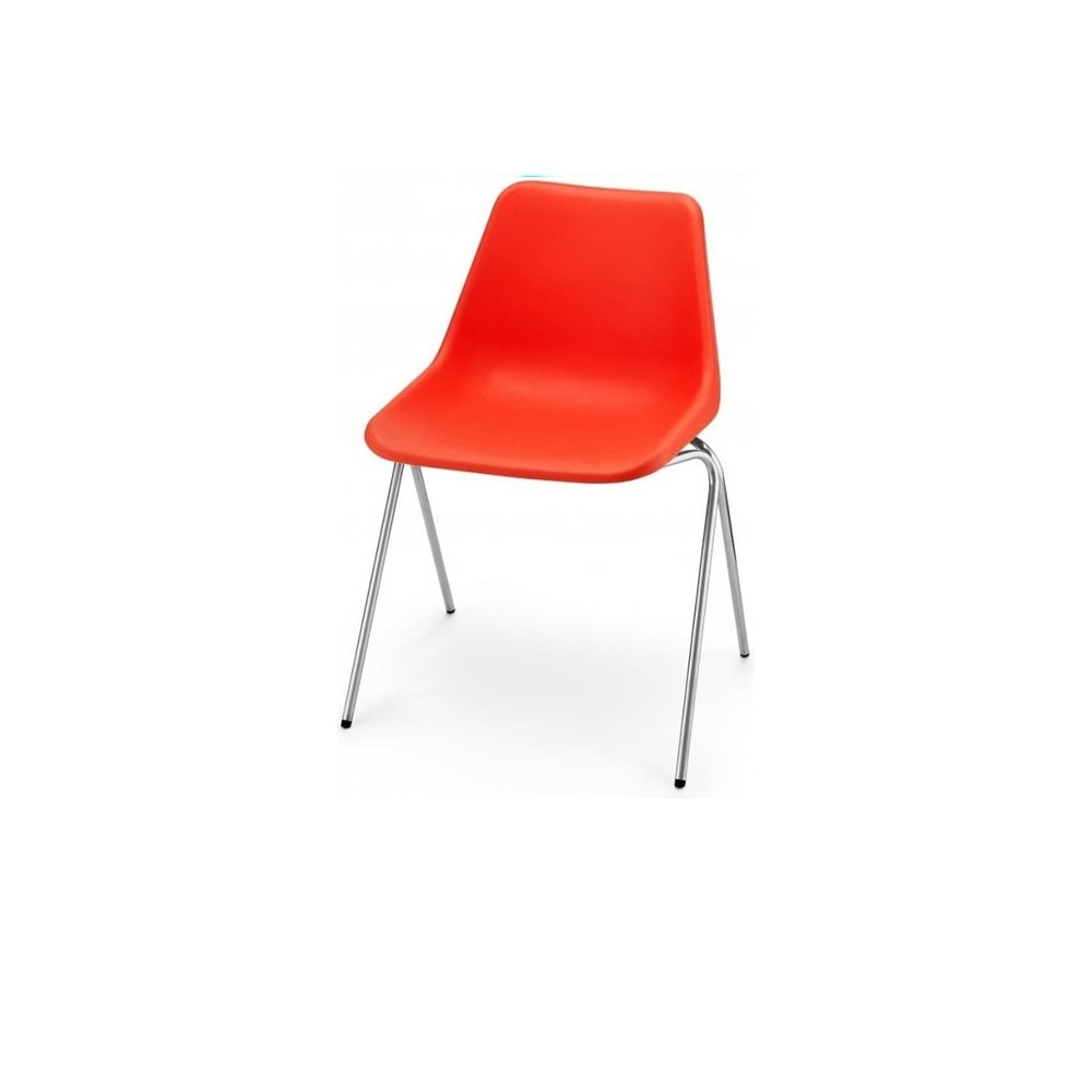 Orange Plastic Chair bright orange robin day chair from fusion living | orange side chairs
