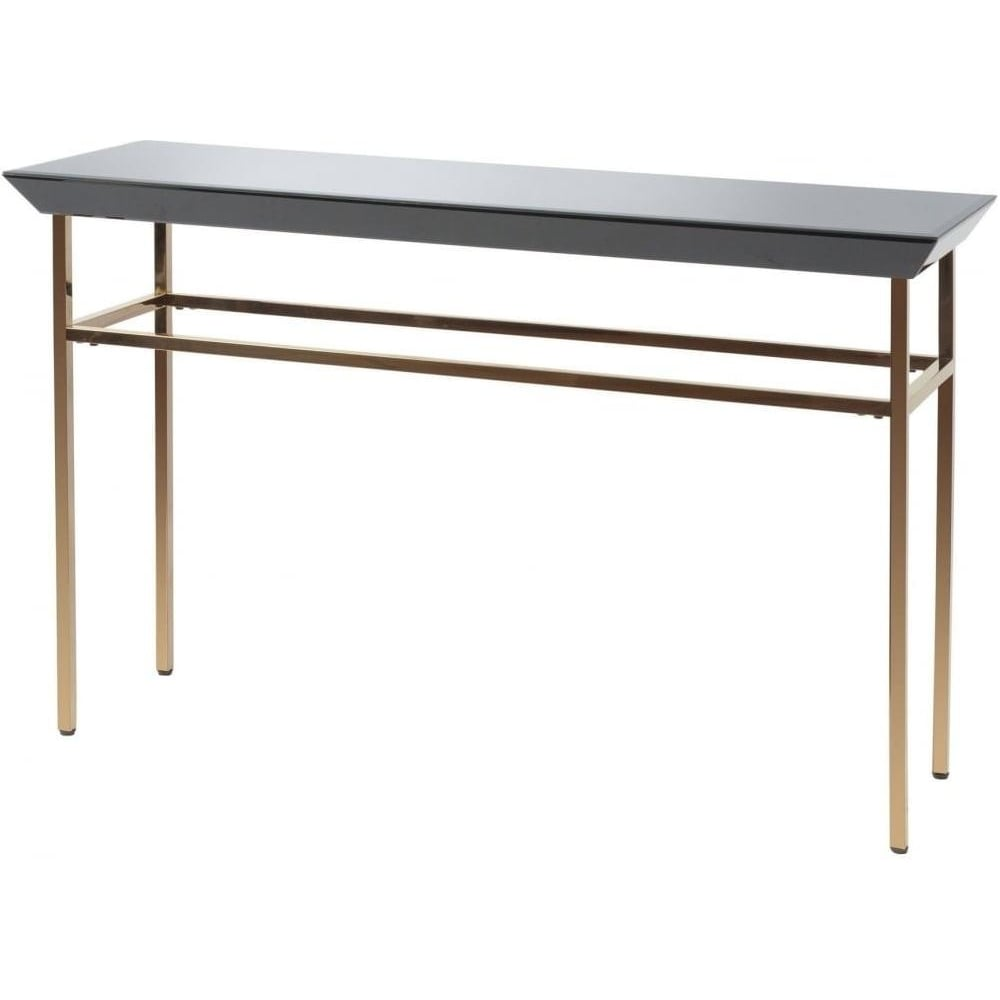 Buy Libra Black Glass And Copper Console Table From Fusion