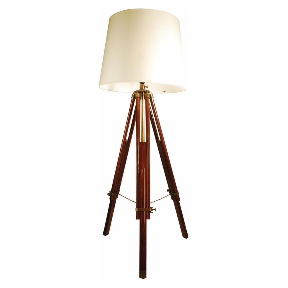 Buy Libra Brown Wooden Tripod Floor Lamp From Fusion