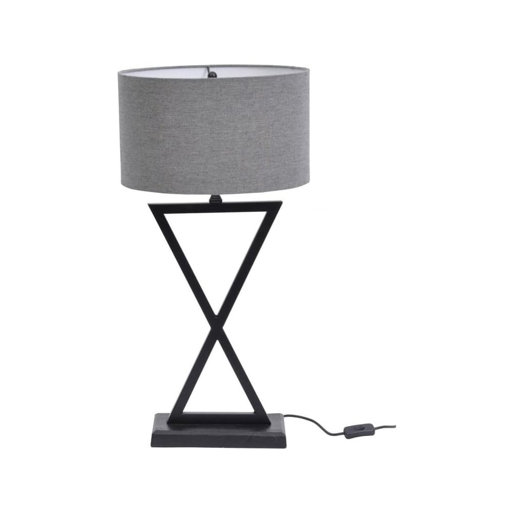 Buy Contemporary Cross Over Table Lamp With Black Base And