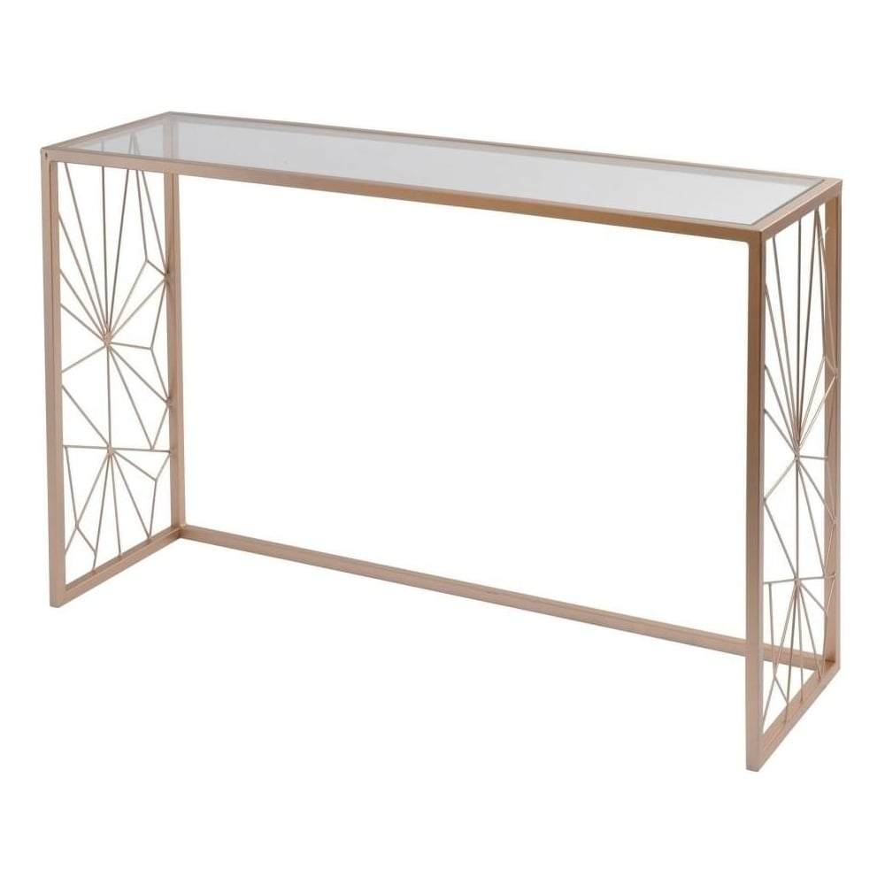 Buy Libra Copper Console Table with Web Design from Fusion Living