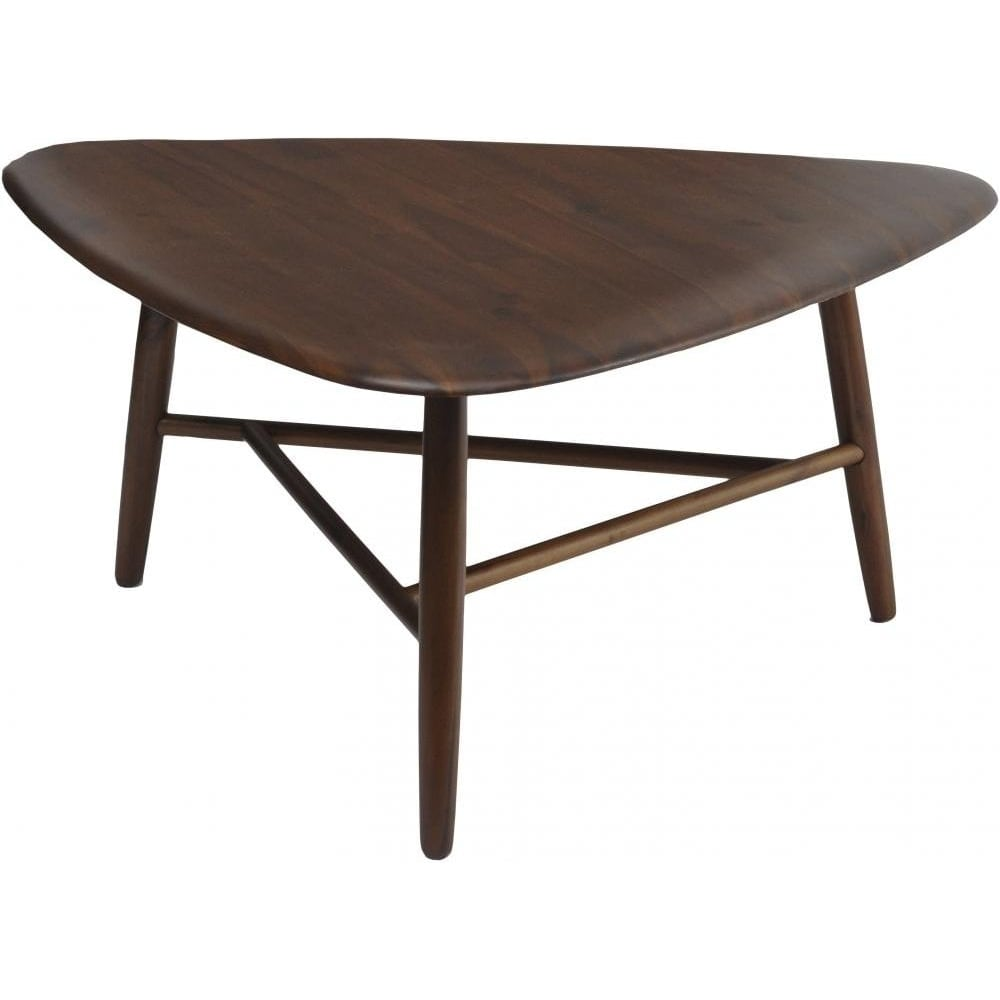 Walnut Oval Coffee Table Uk: Buy Libra Dark Walnut Wood Retro Coffee Table From Fusion
