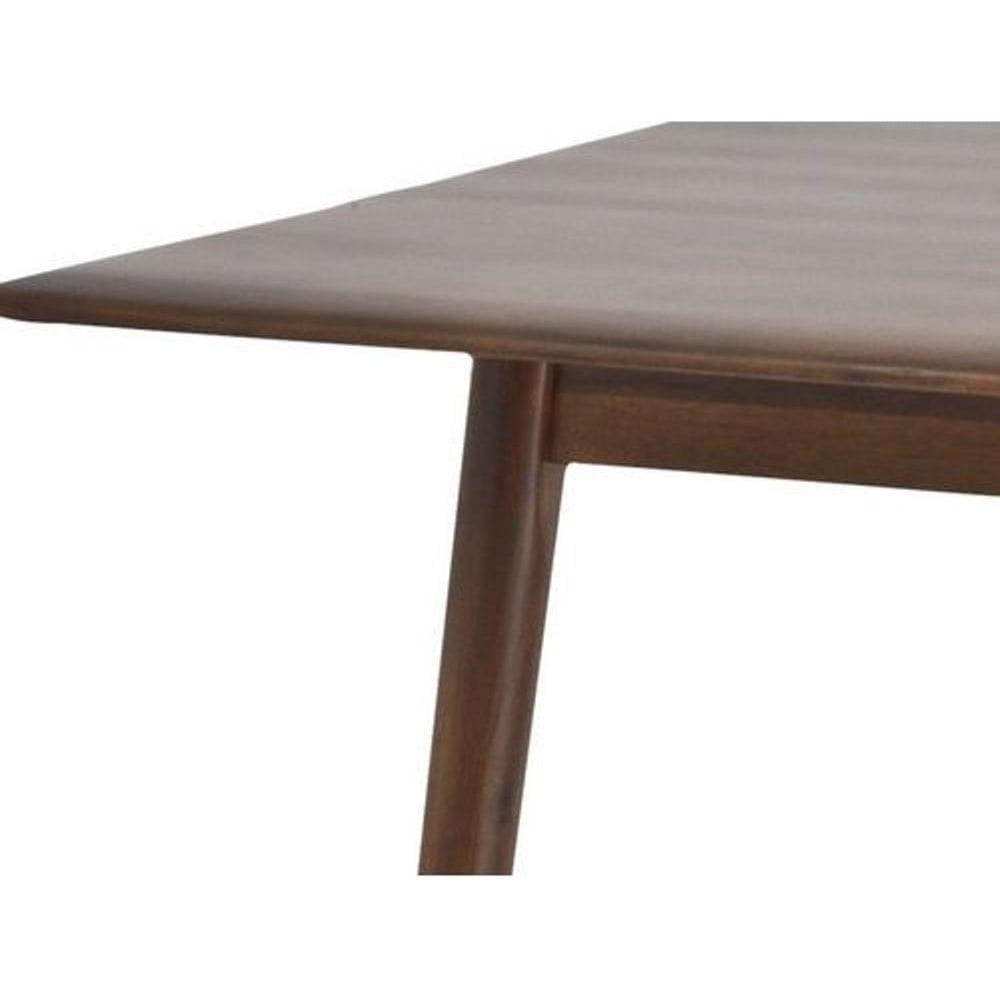Dark Walnut Wood Retro Style Dining Table