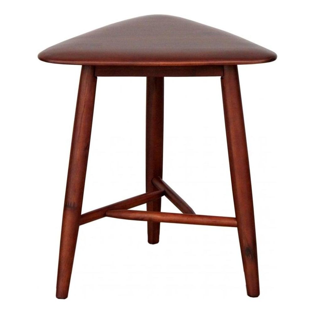 Dark Walnut Wood Retro Style Side Table