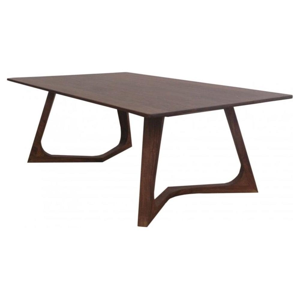 Libra Furniture Dark Wood Retro Style Coffee Table