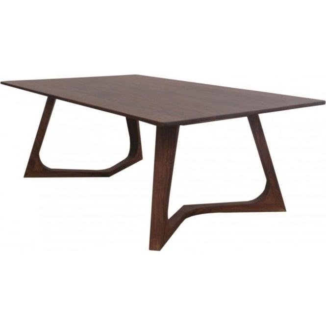 Libra Dark Wood Retro Coffee Table From Fusion Living